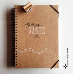 Gästebücher - Geburtstags-Gästebuch, personalisiert, DIN A4 - ein Designerstück von blumsdesign bei DaWanda