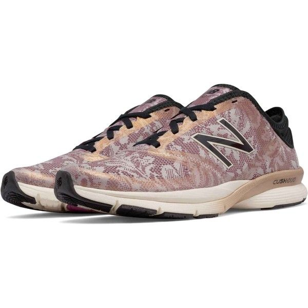 New Balance Women's 88v2 Angora Black Rose Gold Cross Training Shoes ($85) ❤ liked on Polyvore featuring shoes, athletic shoes, red, new balance footwear, red shoes, red athletic shoes, cross trainer shoes and stretch shoes