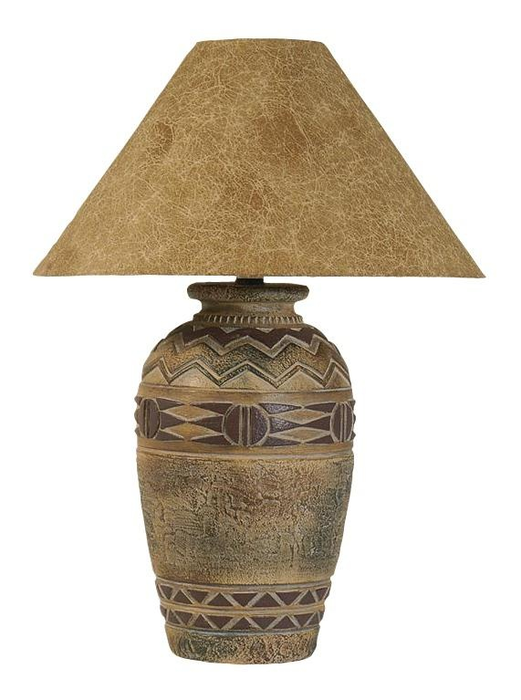 Paprika Hide Shade Southwestern Table Lamp | LampsPlus.com