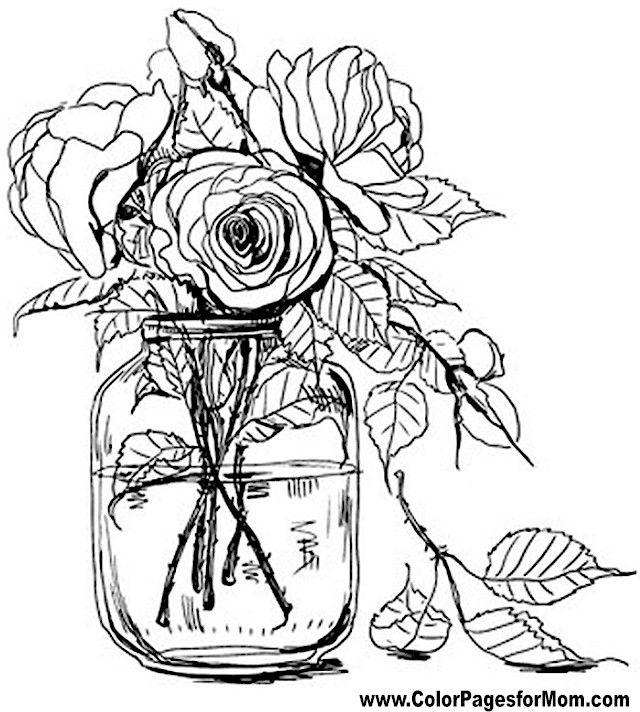 20 best Coloring Pages images on Pinterest Flower coloring pages