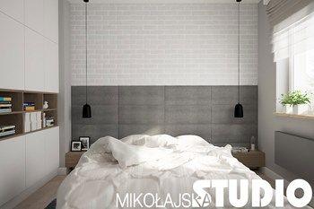 minimalistyczna sypialnia - zdjęcie od MIKOŁAJSKAstudio
