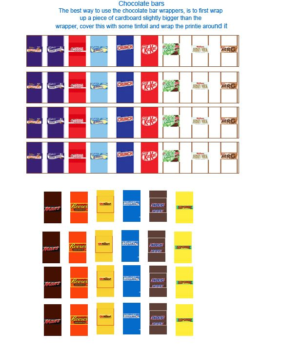 Dollhouse Miniatures Printables: Chocolate And Candy Printables