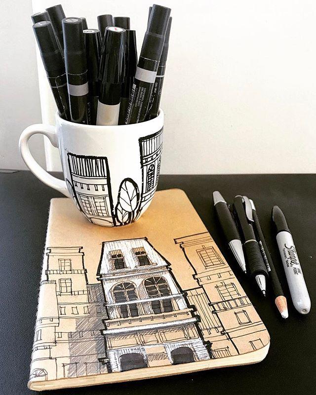 Taza de edificios  moleskine_world #sketch #arquitetapage #papodearquiteto #arqsketch #archdaily #arch_more #archisketcher #sketch_arq #moleskine #prismacolor #amano #sharpie #arquitectura #dibujosdecristina