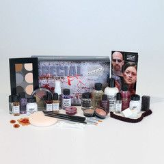 After more than 80 years of Professional/Performance Makeup experience and expertise, Mehron presents the newest addition to the ALL-PRO Makeup Kit for Special FX Makeup! The Mehron Special FX ALL-PRO Makeup Kit is equipped with all the makeup and tools needed to create beginner to advanced makeup applications. The kit includes professional full size products, six accessories and three prosthetic pieces, along with Step-by-Step Instructions. Special Effects All-Pro Kit Includes: • 8 Color…