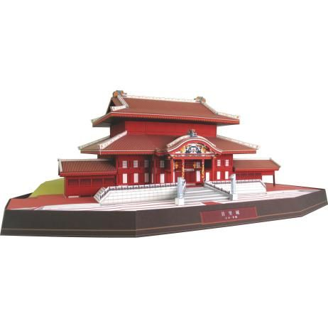Japan Shuri Castle, de bouw, papier ambachtelijke, Azië en Oceanië, Japan, Ryukyu, wereld erfgoed, gebouw
