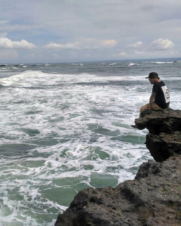 Me and ocean bali island indonesia