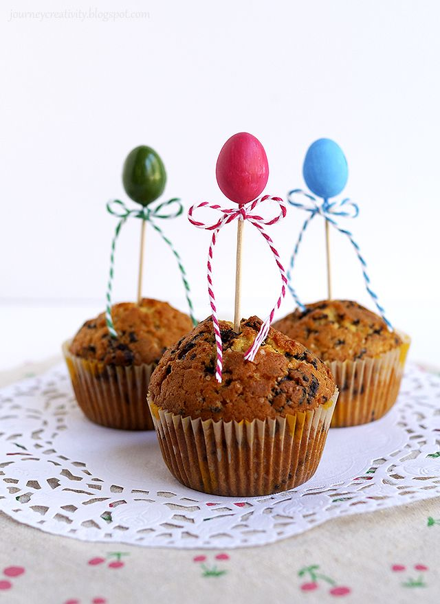Journey into Creativity: Egg cupcake topper