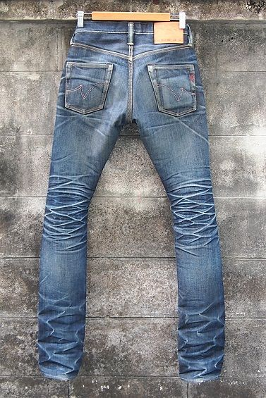 raw denim after wore for many years