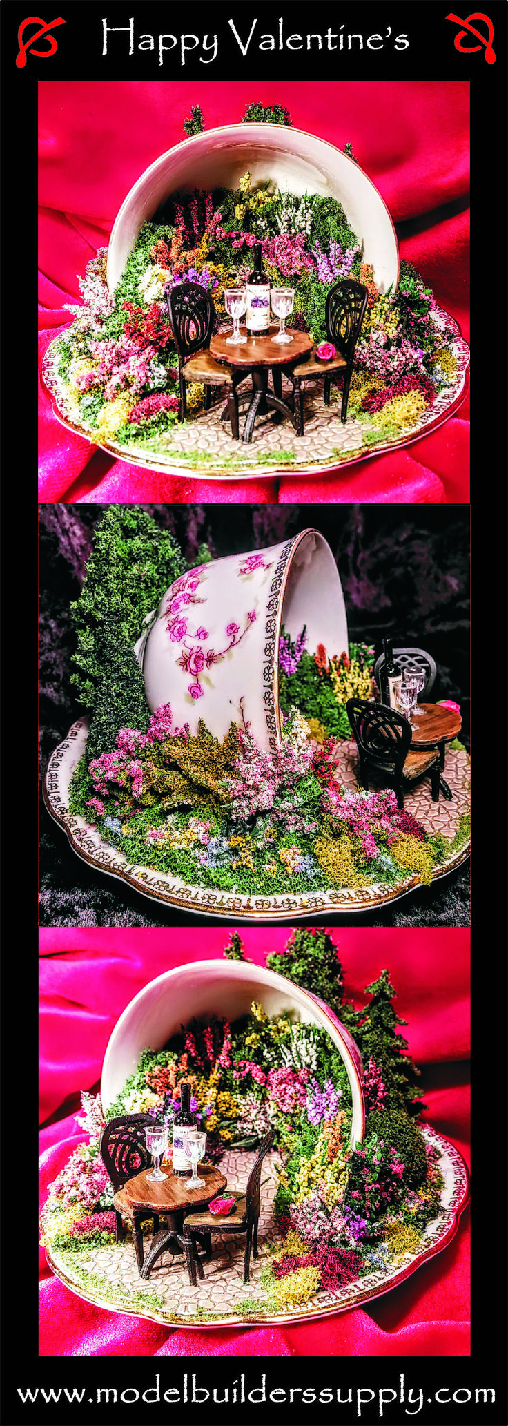 """A rose is just a rose, until you put it in a miniature English garden inside a teacup, then it's something very special. This teacup is appropriately named """" Bridal Rose"""""""