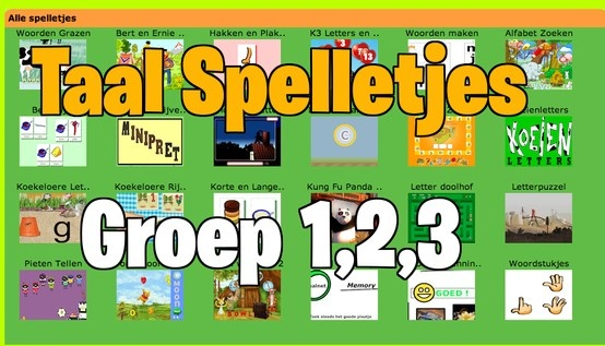 www.minipret.nl Taal spelletjes voor groep 1,2,3
