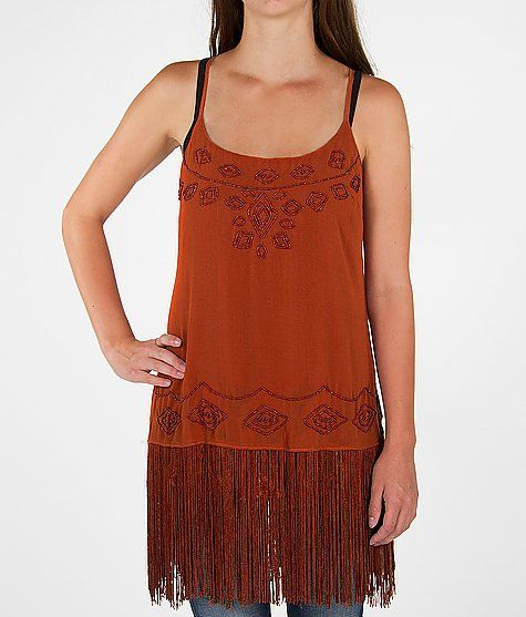 Gimmicks by BKE Layered Chiffon Tank Top - with brown leggings and boots?