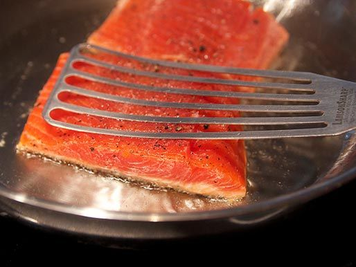 Skin on Salmon How 6 minutes or under on skin side. Relish is weird and really delicious. Maybe cooler pan and longer cook next time. lost half of the skins.