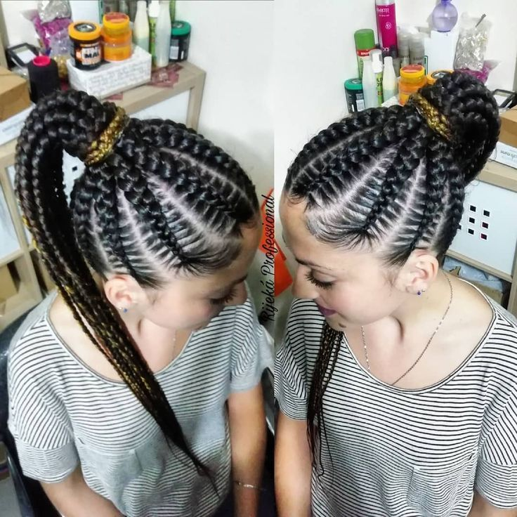 Trenzas De Raiz Coleta De Trenzas Pelo Castaño Mechas De Color Rubio Previa C Hair Beauty Hair Styles