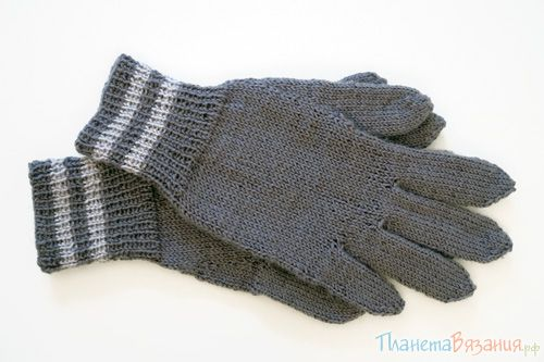 Как связать перчатки спицами. Мастер-класс для начинающих.