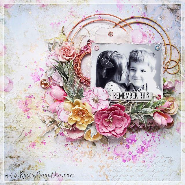 Romantic Garden - scrapbooking layout by Kasia Bogatko