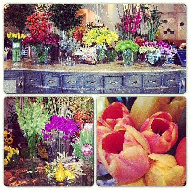 Flower arrangements at the Picasso Restaurant  in the Bellagio hotel. Las Vegas