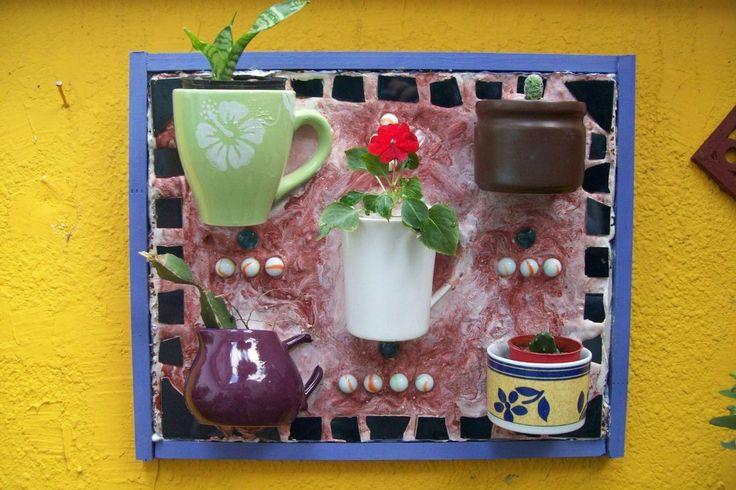 macetero de colgar en pared o apoyo ideal cactus, crasas