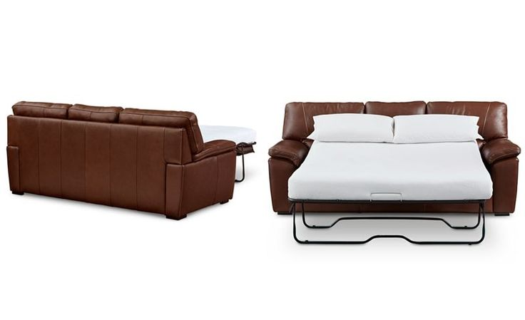 Bolivar Leather Full Sleeper Sofa, Only at Macy's - Furniture - Macy's