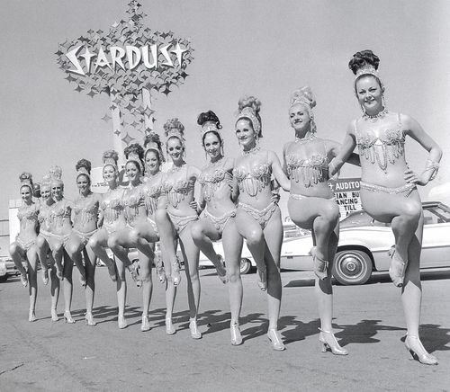 Vintage Vegas Showgirls outside the Stardust Casino