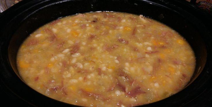 Crock Pot Ham Bone And Beans Recipe - Genius Kitchensparklesparklesparklesparklesparklesparklesparklesparklesparklesparkle