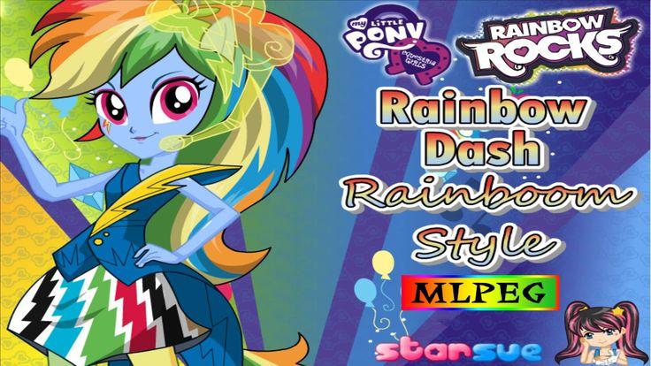 My Little Pony - Equestria Girls - Rainbow Dash Rainbooms Style - Dress ...
