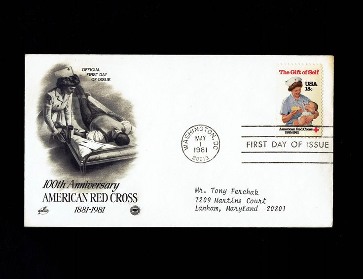 US 1910 American Red Cross May 1, 1981 Washington D.C. First Day Cover lot #F1910-1 by VicsStamps on Etsy