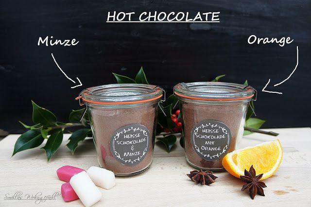 Recipe, Rezept für heisse Schokolade, tolles Geschenk! Pulver ganz einfach selber mischen by www.SmillasWohngefuehl.blogspot.com