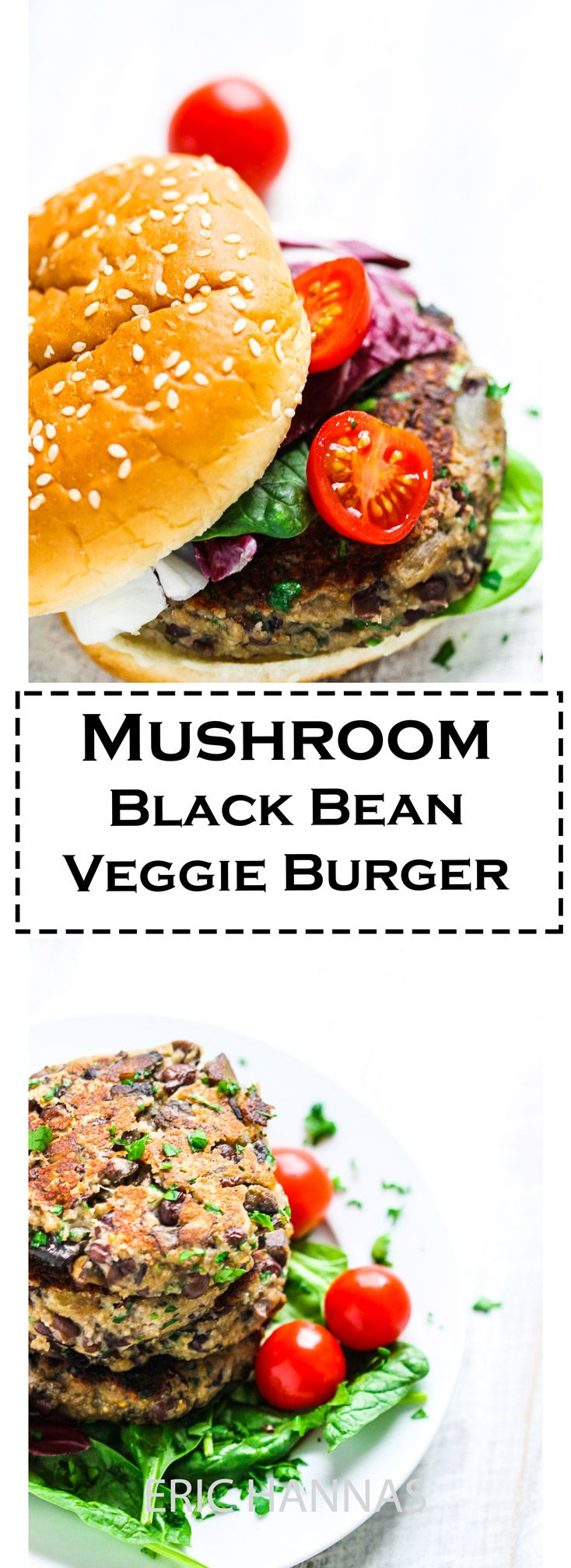 This Mushroom Black Bean Veggie Burger recipe is the best veggie burger you can ever make. Healthy, easy and super delicious. The best part – it's veggie burger that sticks together!