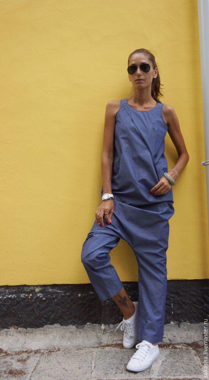 Купить Комбинезон Sexy Denim - синий, комбинезон, комбинезон летний, стильная одежда, джинсовый стиль