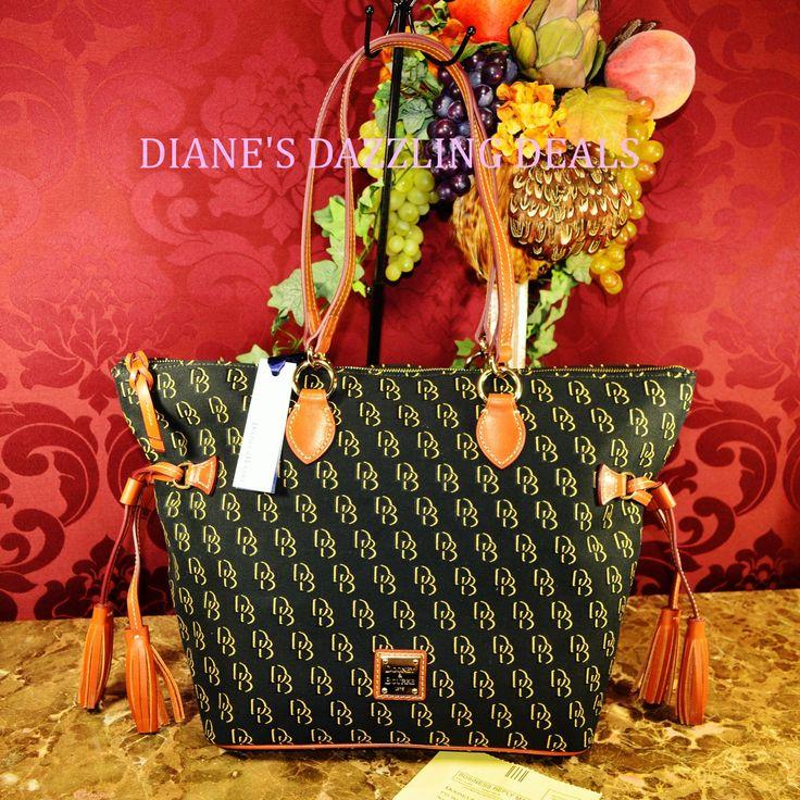 Dooney & Bourke NWT Signature Shadow Tassel Shopper Bag Black & BEAUTIFUL