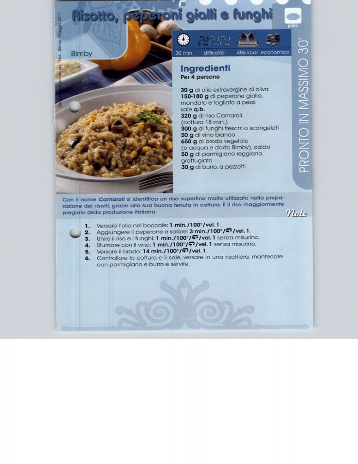 Risotti, minestre e zuppe ... ricettario Bimby Pagina 1 di 46