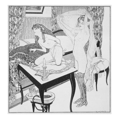 Vintage retro nude busty women