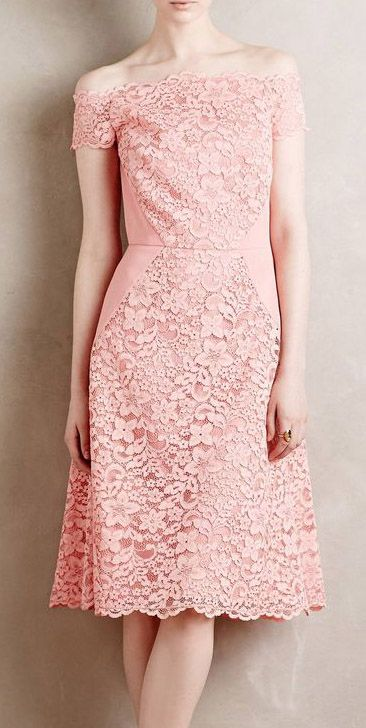 Persica Lace Dress - Off the shoulder would have to be for a special occasion…