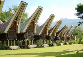Tongkonan, another traditional housing art from Toraja, South Sulawesi, Indonesia.