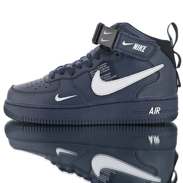 40a4ecc15857 Drop shipping Nike Air Force 1 07 Mid Utility Pack Dark blue white double  hook 804609-403 in nikedropshipping.com