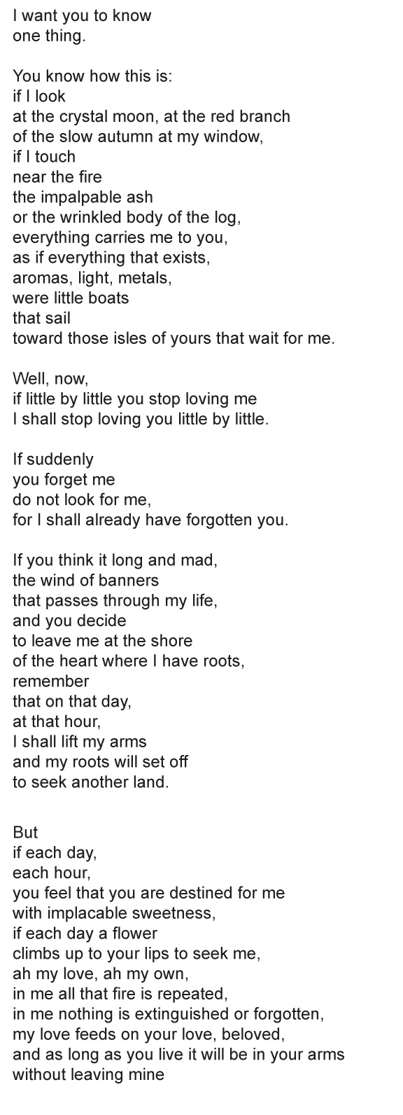 """If You For Me"" Pablo Neruda"