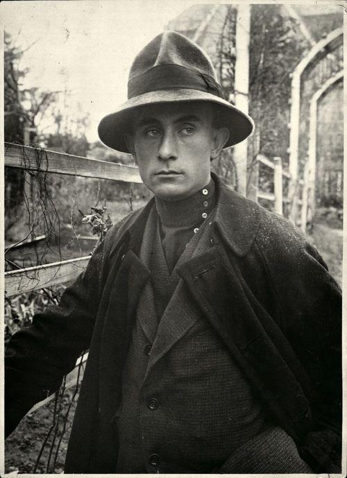 Hungarian writer, poet, artist Lajos Kassák, 1922