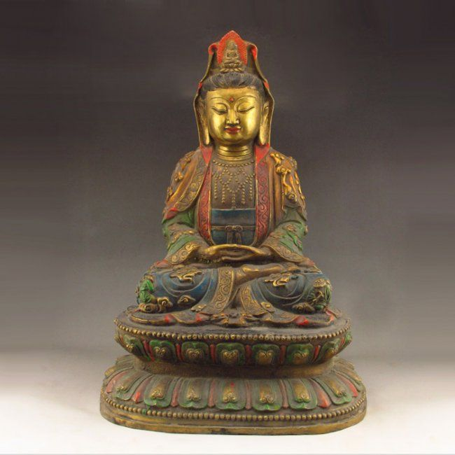 Superb Chinese Tibet Brass Statue - Kwan-yin