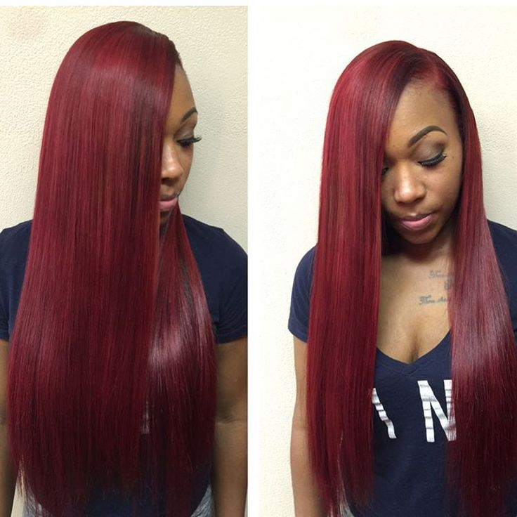 Best 25 red weave hairstyles ideas on pinterest red weave sew hairbyaandre sewin custom color by me pmusecretfo Image collections
