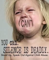 child abuse - Say something or you are part of the abuse