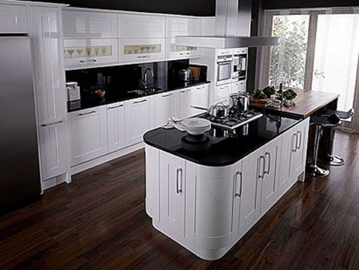 modern black and white kitchen interior fabulous design | 97 best images about Black and white home decor on ...