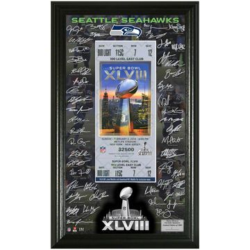 Seattle Seahawks Super Bowl XLVIII Bound Signature Ticket