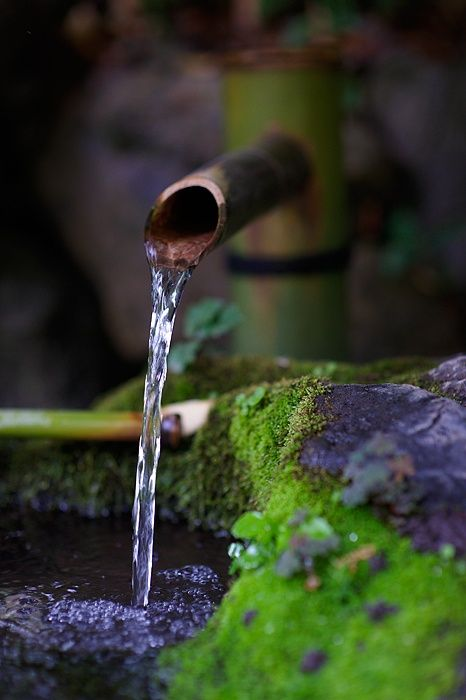 Shishi-Odoshi, Bamboo Water Fountain, Japanese Garden|ししおどし