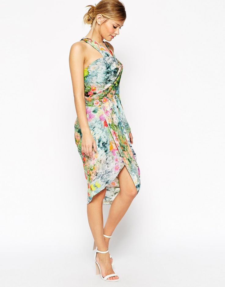 8 best well dressed guests images on pinterest party for Floral wedding guest dresses
