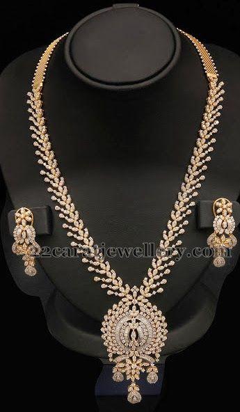 Jewellery Designs: Floral Designer Diamond Pretty Set