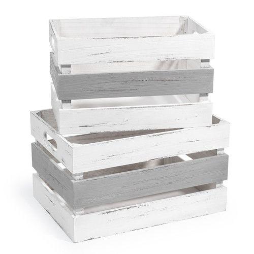 2 cajas de madera QUIBERON
