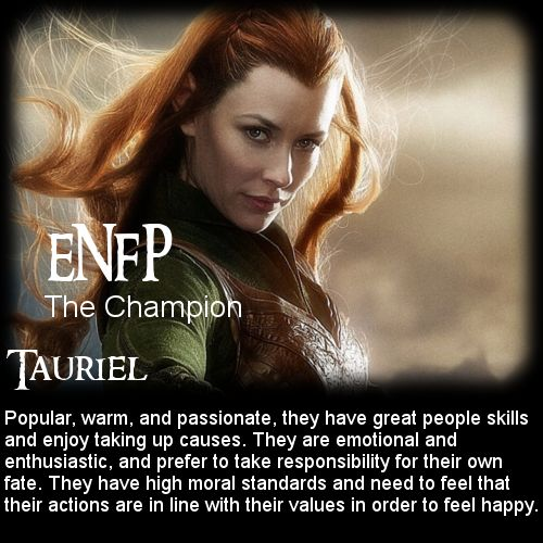 The Hobbit: Battle of the 16 Personalities - Tauriel [ENFP ...