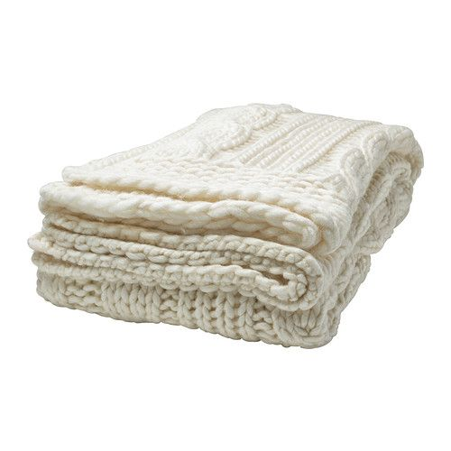 ANNBRITT Throw   - IKEA- Love the sweater material. Very cozy.