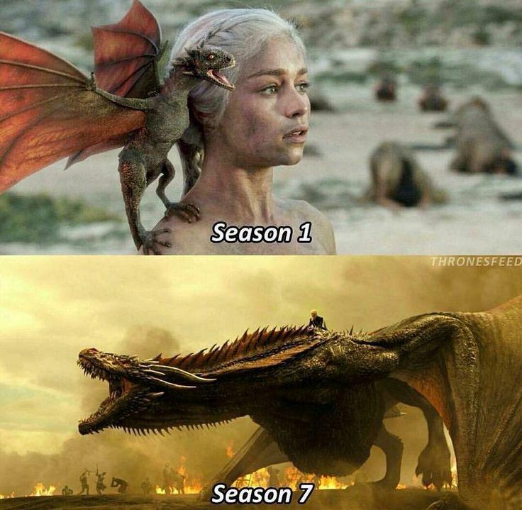He's grown, Game of Thrones.