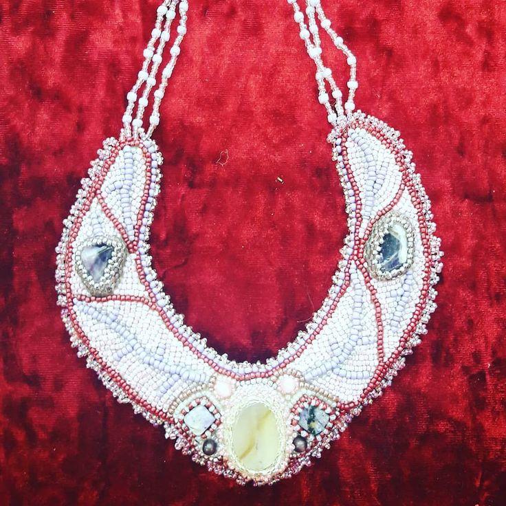 Ожерелье ручной работы из бисера #ручнаяработа #ручнаяработанефтекамск #бисер #ожерелье